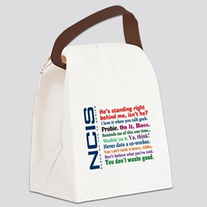 NCIS Quotes Canvas Lunch Bag